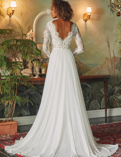 Camelia Gown Back
